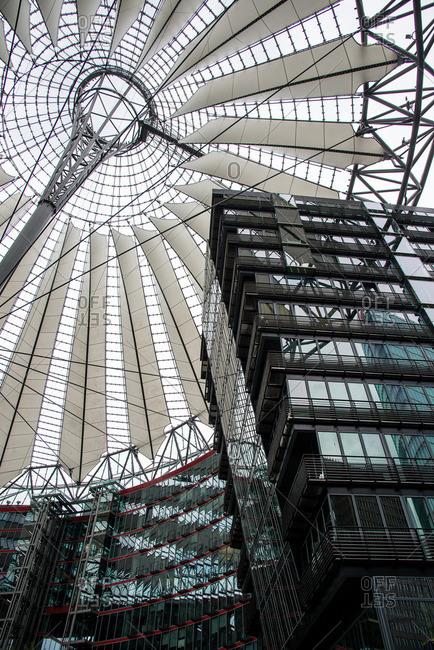 Berlin, Germany - June 18, 2015: Sony Center canopy in Berlin, Germany
