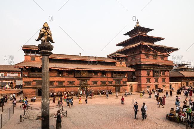 Patan, Nepal - April 15, 2016: Patan Durbar Square