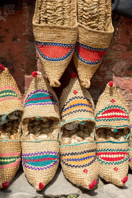 Traditional Nepali straw sandals