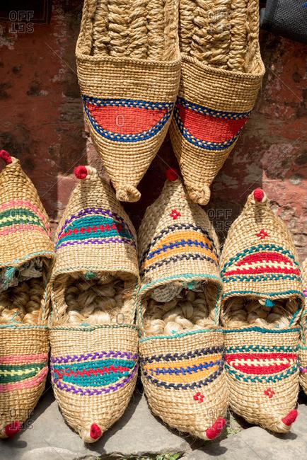 Traditional Nepali straw sandals