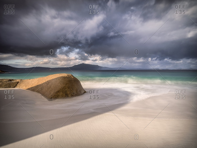 Australian beach in long exposure