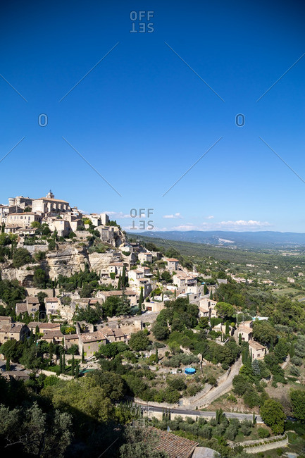 Town of Gourdes in southern France