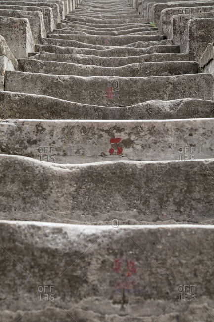 Stairs of a Roman amphitheater