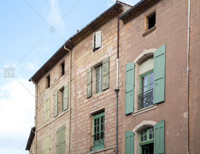 Weathered houses in south of France