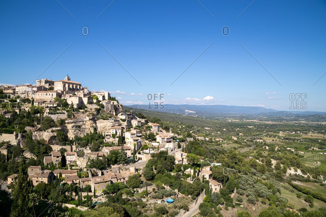 Town of Gourdes in south of France