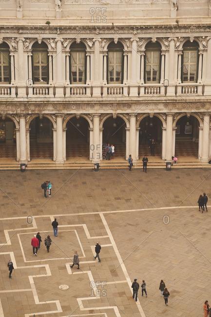 Venice, Italy - November 24, 2016: St. Mark's Square from above