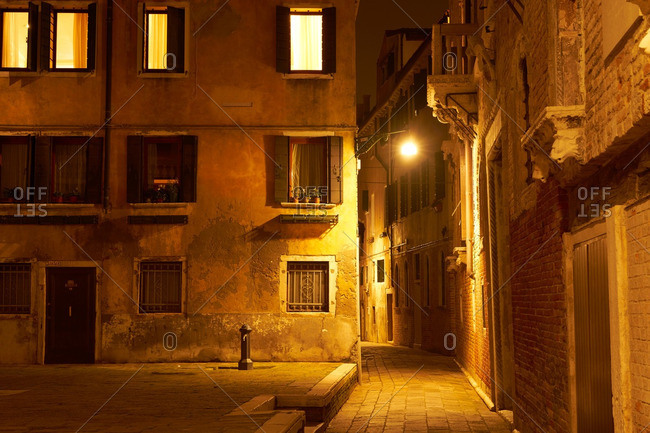 A quiet street in Venice, Italy