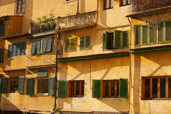 A building fa�ade in Florence, Italy
