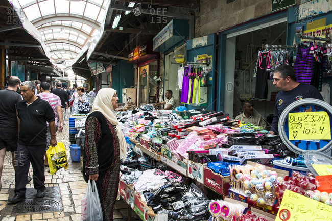 June 7, 2016: Shoppers and vendors at a busy enclosed market