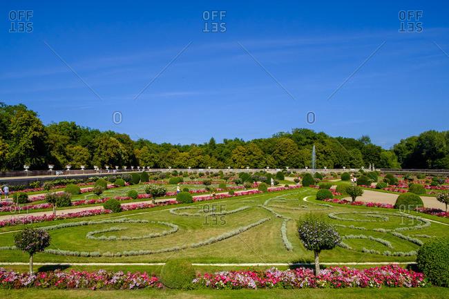 Vast gardens at the Chateau de Chenonceau, France