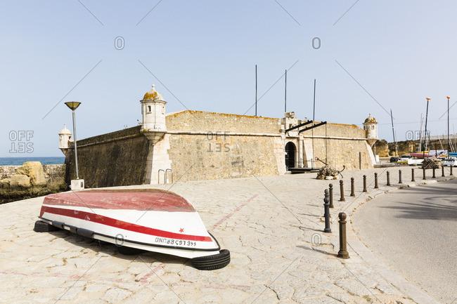 Lagos, Portugal - June 7, 2016: Exterior of the Fortaleza da Ponta da Bandeira fortress