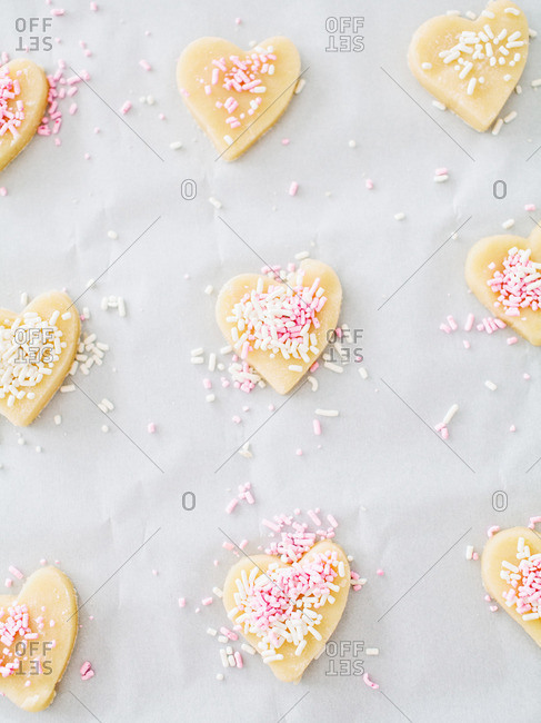 Sprinkle Heart Shaped Cookie Dough