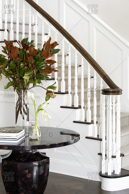 Staircase in entryway