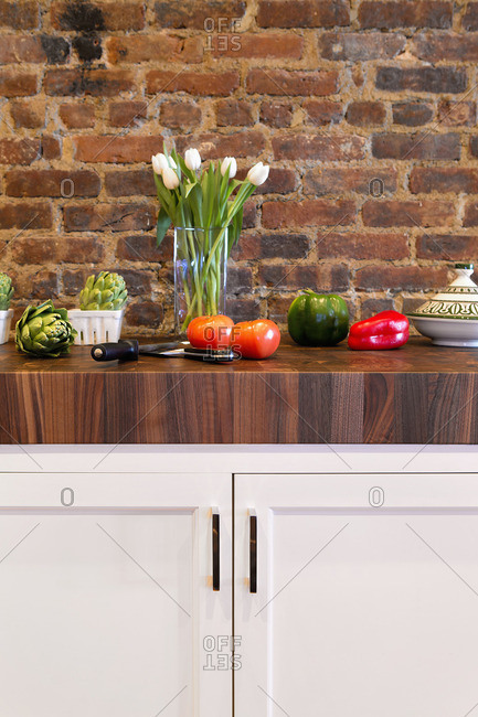 Group of vegetables on countertop