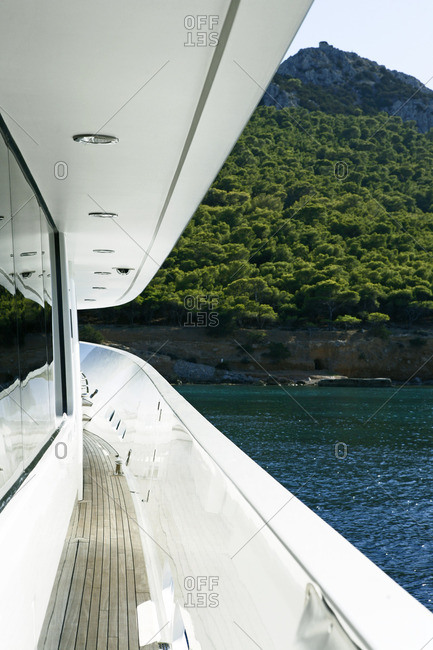 View from side deck of yacht