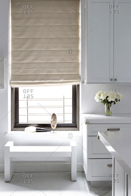 Bright white modern kitchen