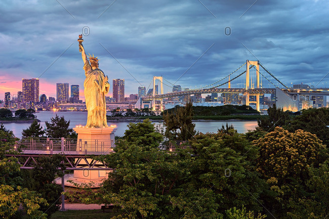 Odaiba Statue of Liberty in Tokyo, Japan