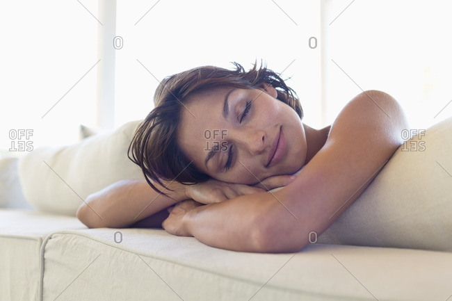 Woman relaxing on the bed