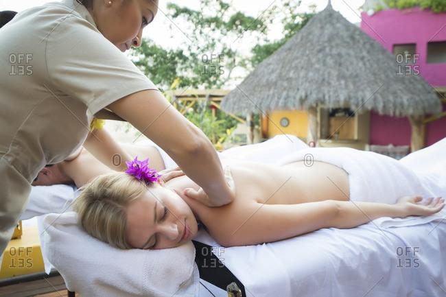 Massage at vacation resort - Offset