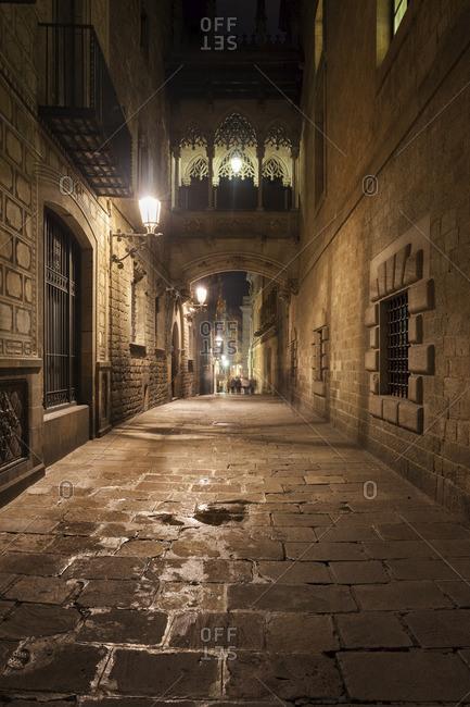 Barri Gotic at night
