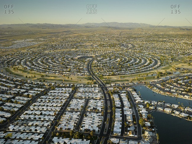Aerial view of Sun City retirement community
