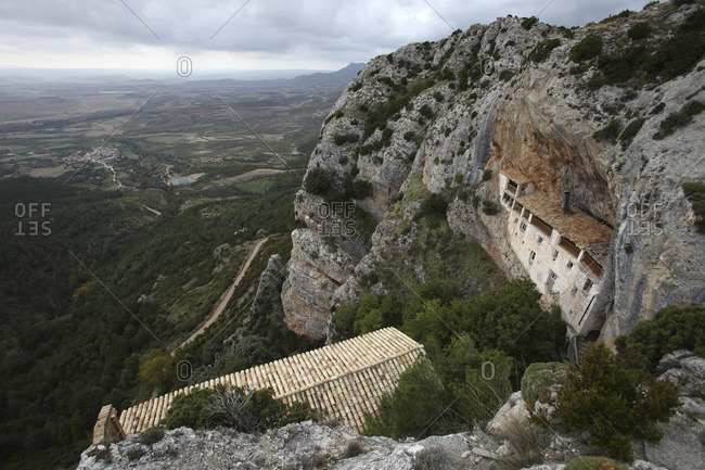 View to Hermitage of the Virgin of the Rock from above