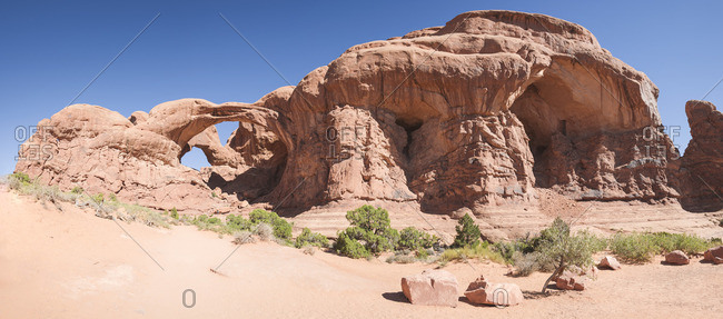 Double Arch Hiking Trail in Arches National Park
