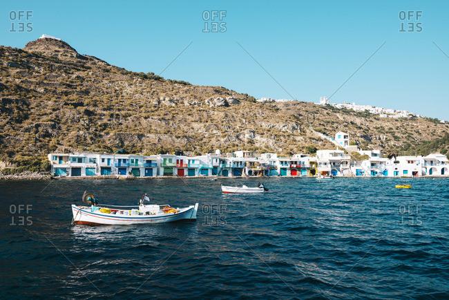 Colorful fishermen's village Klima - Offset