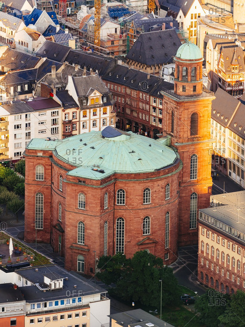 View to St Paul's Church from above