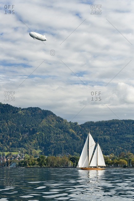 Sailing boat on Lake Constance