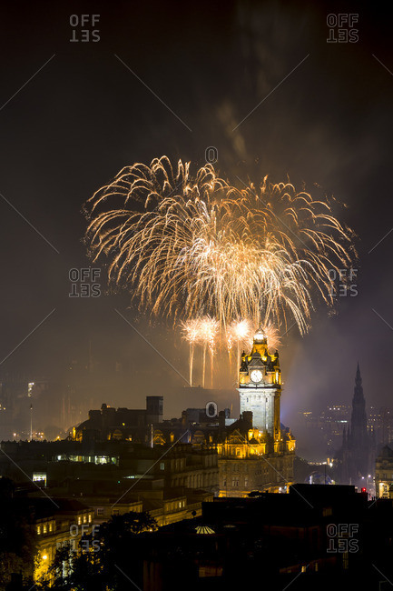 Firework Display on Edinburgh International Festival