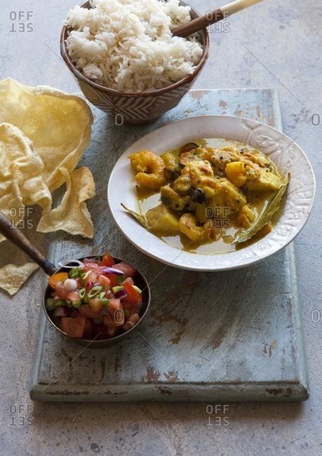 1960c24a1e0 indian fish curry stock photos - OFFSET