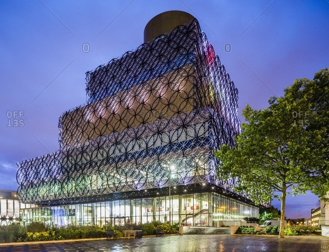 England, UK - 7/12/14 Centenary Square, the Library of Birmingham