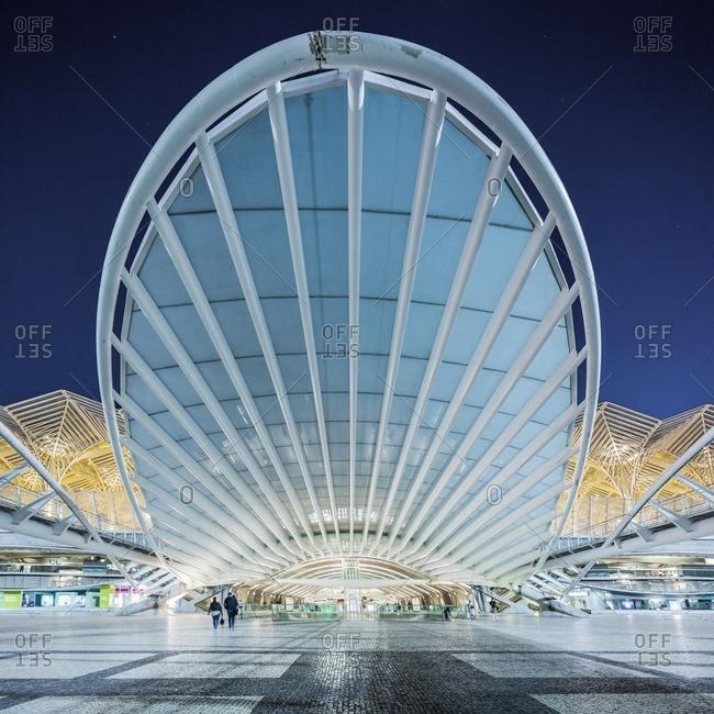 Portugal, Lisboa - 7/22/16:  The Esta��o de Lisboa-Oriente (Lisbon Oriente Station)