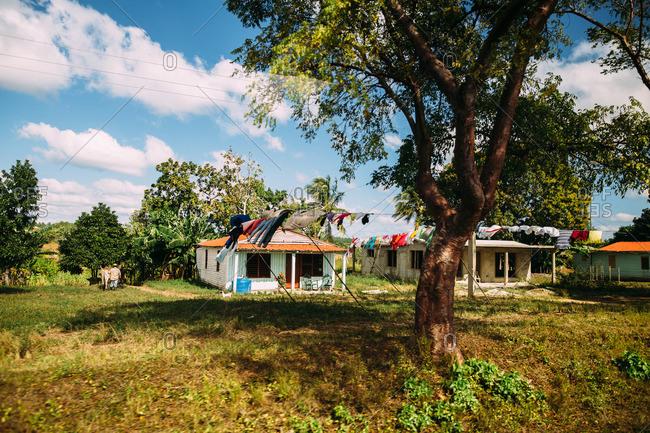 Three rural farm buildings in Cuba