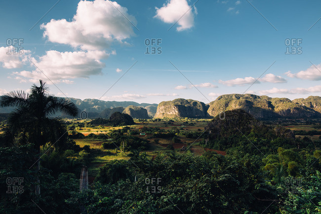 Overlooking the Vinales Valley in Cuba