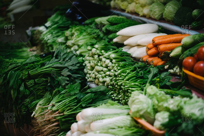 Vegetables for sale in market