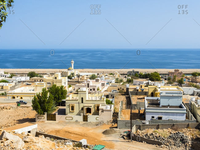 Oman- Ash Sharqiyah- Ad Daffah- seaport Sur with sea in the background