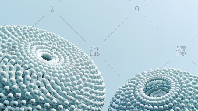 Two ball-shaped objects- 3D Rendering