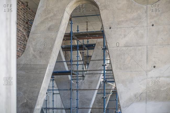 Scaffold in concrete construction