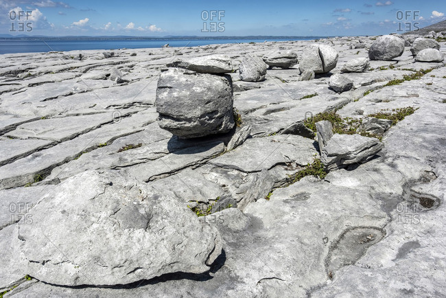The Burren on the Wild Atlantic Way coastal route in Ireland's County Clare