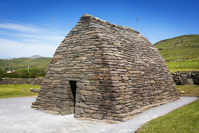 The Gallarus Oratory, an early Christian church located on the Dingle Peninsula