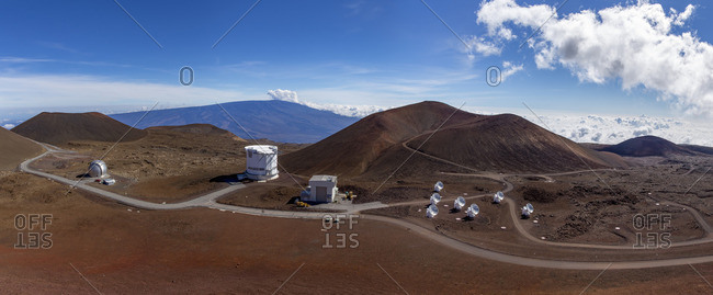 Mauna Kea Observatory and non-optical telescopes on a mountain
