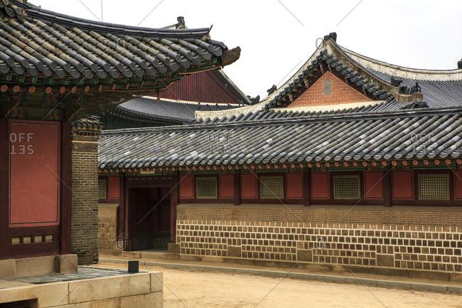 An interior courtyard of Gyeongbokgung Palace