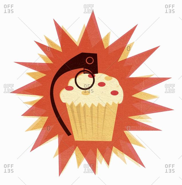 Explosive cupcake