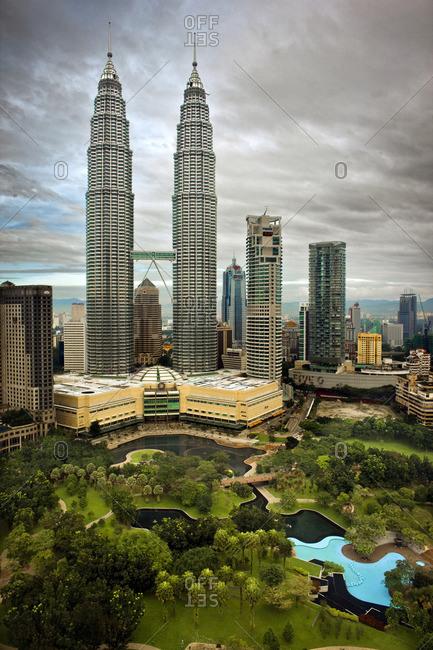 Kuala Lumpur, Malaysia - November 19, 2009: Cityscape of Kuala Lumpur, Malaysia