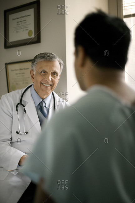 Doctor talking to his patient.