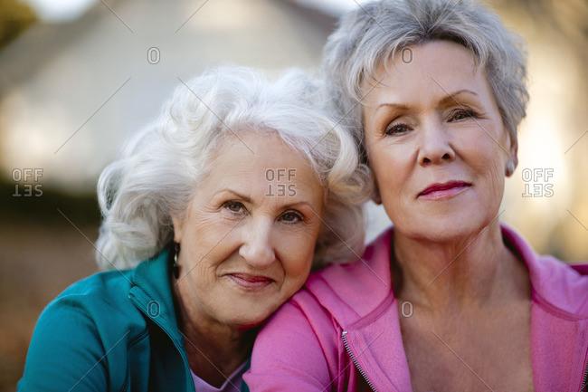 Two senior friends.