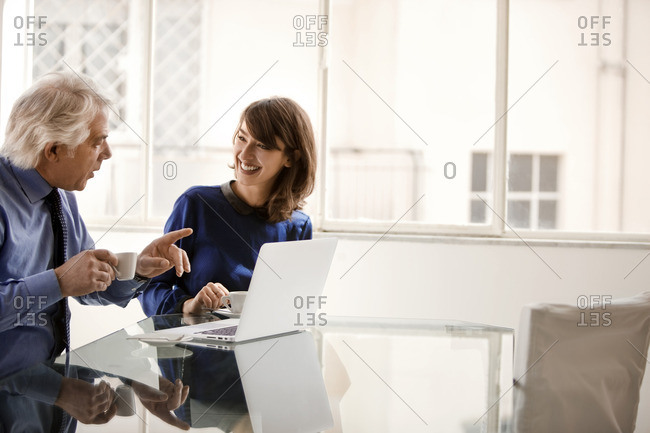 Business colleagues in a meeting.