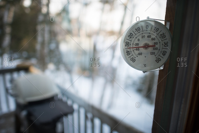 -30 degrees C on the thermostat at a winter cabin
